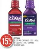 Zzzquil Sleep Aid Capsules (12's- 36's) or Liquid (177ml - 354ml)