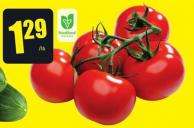 Tomatoes On The Vine Product of Ontario 2.84/kg