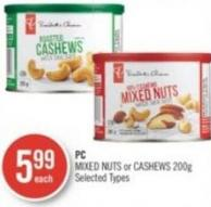 PC Mixed Nuts or Cashews 200g