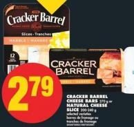 Cracker Barrel Cheese Bars - 270 g or Natural Cheese Slice - 200-240 g