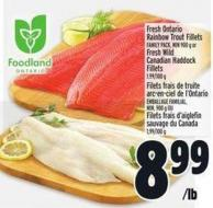 Fresh Ontario Rainbow Trout Fillets Family Pack - Min 900 g or