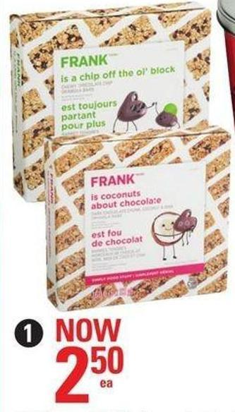 Selected Frank Granola Bars