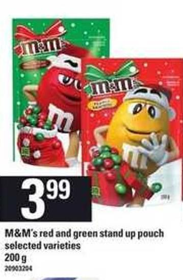 M&m's Red And Green Stand Up Pouch - 200 g
