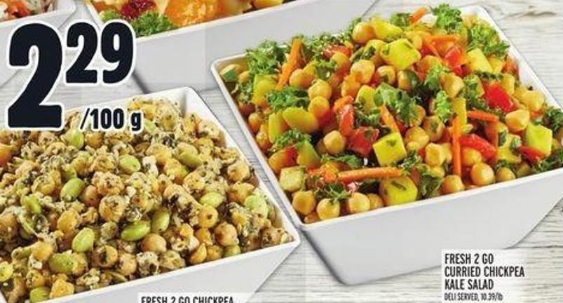 Fresh 2 Go Curried Chickpea & Kale Salad