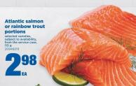 Atlantic Salmon Or Rainbow Trout Portions - 113 g