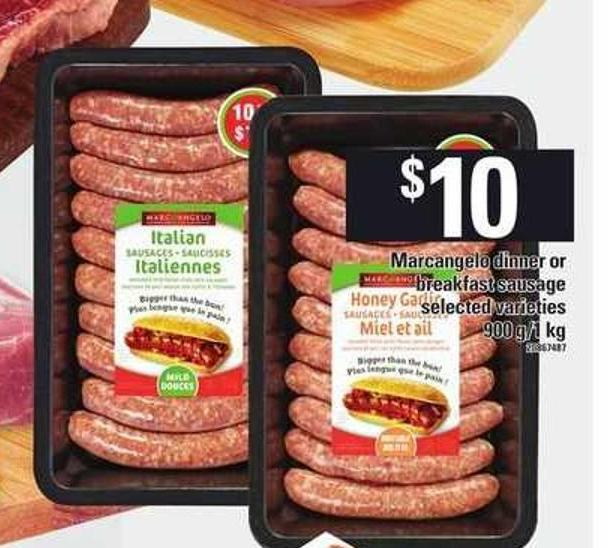Marcangelo Dinner Or Breakfast Sausage - 900 G/1 Kg