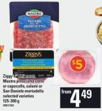 Ziggy's Deli Meat - Mastro Prosciutto Cotto Or Capocollo - Salami Or San Daniele Mortadella - 125-300 G
