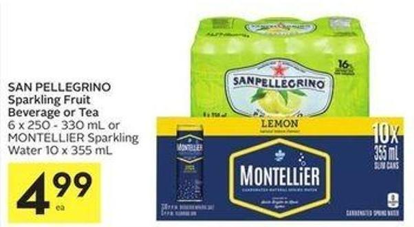 San Pellegrino Sparkling Fruit Beverage Or Tea