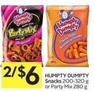 Humpty Dumpty Snacks 200-320 g or Party Mix 280 g