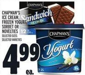 Chapman's Ice Cream - Frozen Yogurt - Sorbet Or Novelties