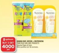 Banana Boat - Aveeno or Neutrogena Twin Pack Sun Care Products
