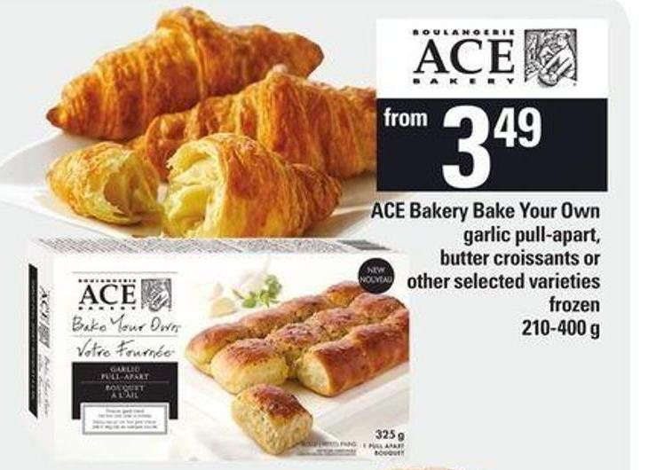 Ace Bakery Bake Your Own Garlic Pull-apart - Butter Croissants.210-400 g