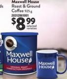 Maxwell House Roast & Ground Coffee - 925 G