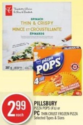 Pillsbury Pizza Pops (4's) or PC Thin Crust Frozen Pizza