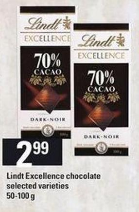 Lindt Excellence Chocolate