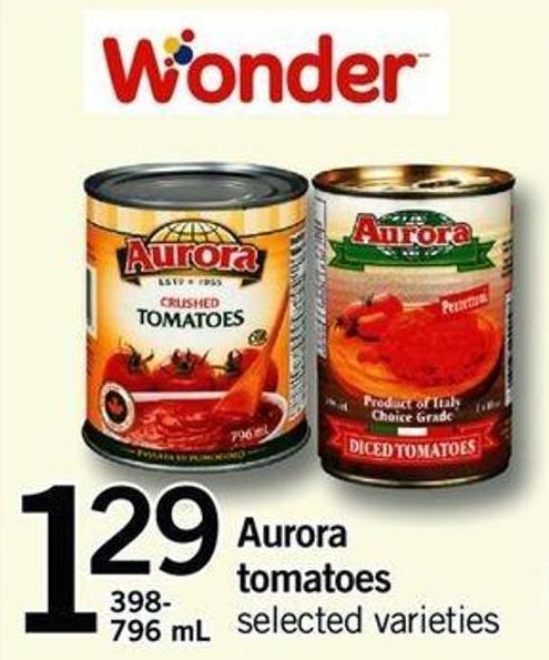 Aurora Tomatoes - 398/796 Ml