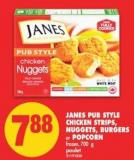 Janes Pub Style Chicken Strips - Nuggets - Burgers or Popcorn - 700 g