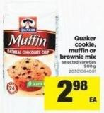 Quaker Cookie - Muffin Or Brownie Mix - 900 g