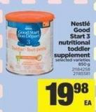 Nestlé Good Start 3 Nutritional Toddler Supplement - 850 g