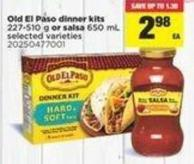 Old El Paso Dinner Kits 227-510 G Or Salsa 650 Ml