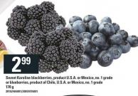 Sweet Karoline Blackberries - Or Blueberries - 170 g