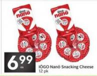 Iögo Nanö Snacking Cheese 12 Pk