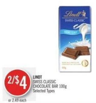 Lindt   Lindt Swiss Classic Chocolate Bar