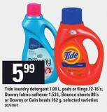 Downy Fabric Softener 1.53 L - Bounce Sheets 80's Or Downy Or Gain Beads 162 G
