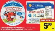 The Laughing Cow Cheese.267 g Or Tre Stelle Mozzarella Ball - 340 g