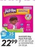 Huggies Big Pack Pull-Ups 2t-5t 40-54 Pk or Goodnites 24-32 Pk - 25 Air Miles