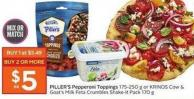 Piller's Pepperoni Toppings 175-250 g or Krinos Cow & Goat's Milk Feta Crumbles Shake-it Pack 170 g