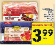 Butterball Turkey Style Bacon Or Selection Bacon