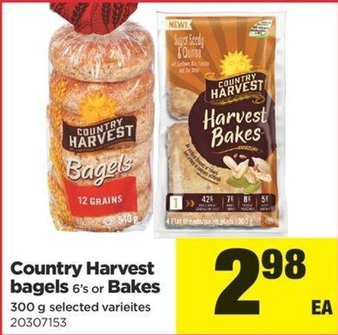 Country Harvest Bagels 6's Or Bakes - 300 G