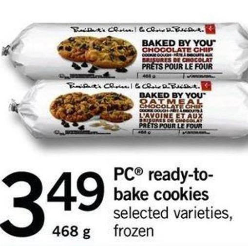 PC Ready-to- Bake Cookies - 468 G