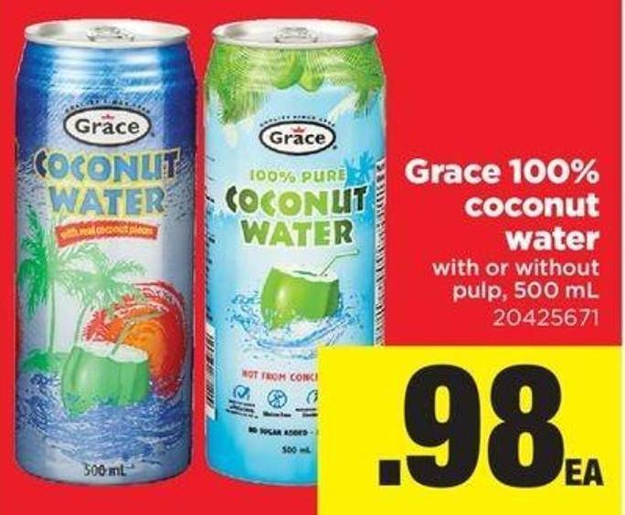 Grace 100% Coconut Water - With Or Without Pulp - 500 Ml