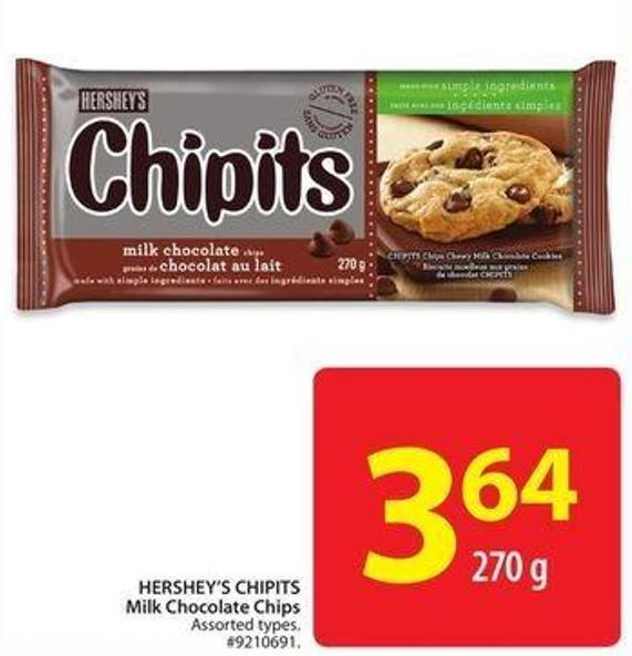 Hershey's Chipits Milk Chocolate Chips