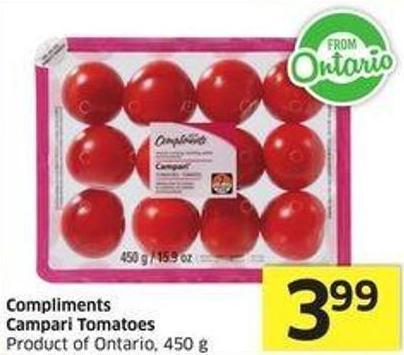 Compliments Campari Tomatoes Product of Ontario - 450 g