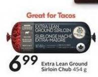 Extra Lean Ground Sirloin Chub 454 g
