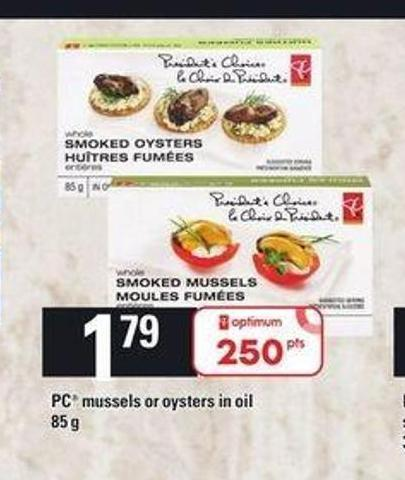 PC Mussels Or Oysters In Oil - 85 g