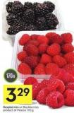 Raspberries or Blackberries Product of Mexico - 170 g