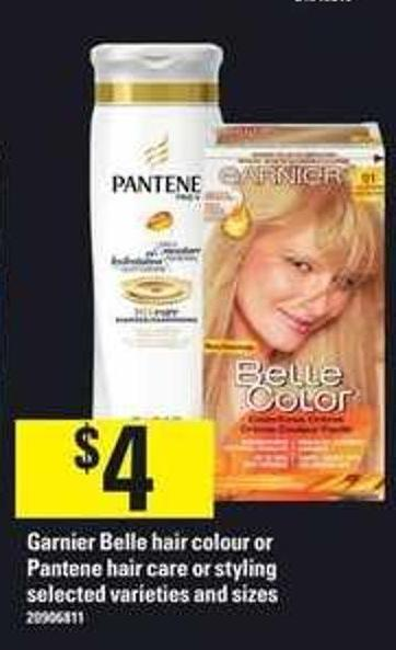 Garnier Belle Hair Colour Or Pantene Hair Care Or Styling