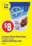 Compass Whole Pitted Dates