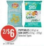 Poppables (141g) or Sun Chips (215g - 225g)