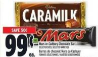 Mars Or Cadbury Chocolate Bar
