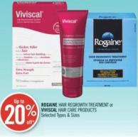 Rogaine Hair Regrowth Treatment or Viviscal Hair Care Products