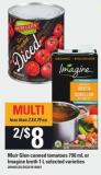 Muir Glen Canned Tomatoes - 796 Ml Or Imagine Broth - 1 L