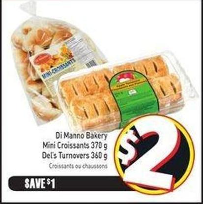 Di Manno Bakery Mini Croissants 370 g Del's Turnovers 360 g