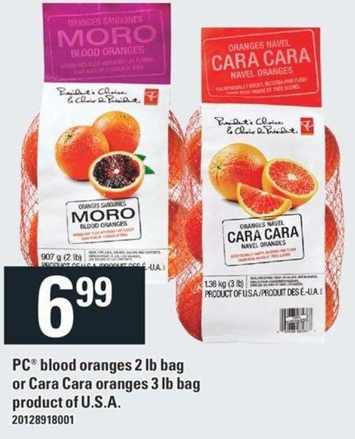 PC Blood Oranges 2 Lb Bag Or Cara Cara Oranges 3 Lb Bag