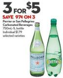 Perrier or San Pellegrino Carbonated Beverages