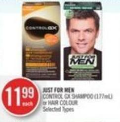 Just For Men Control Gx Shampoo (177ml) or Hair Colour